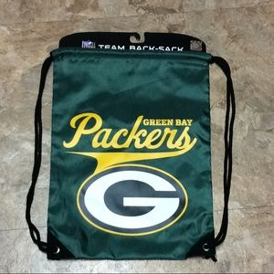 Green Bay Packers cinch bag backpack NWT!